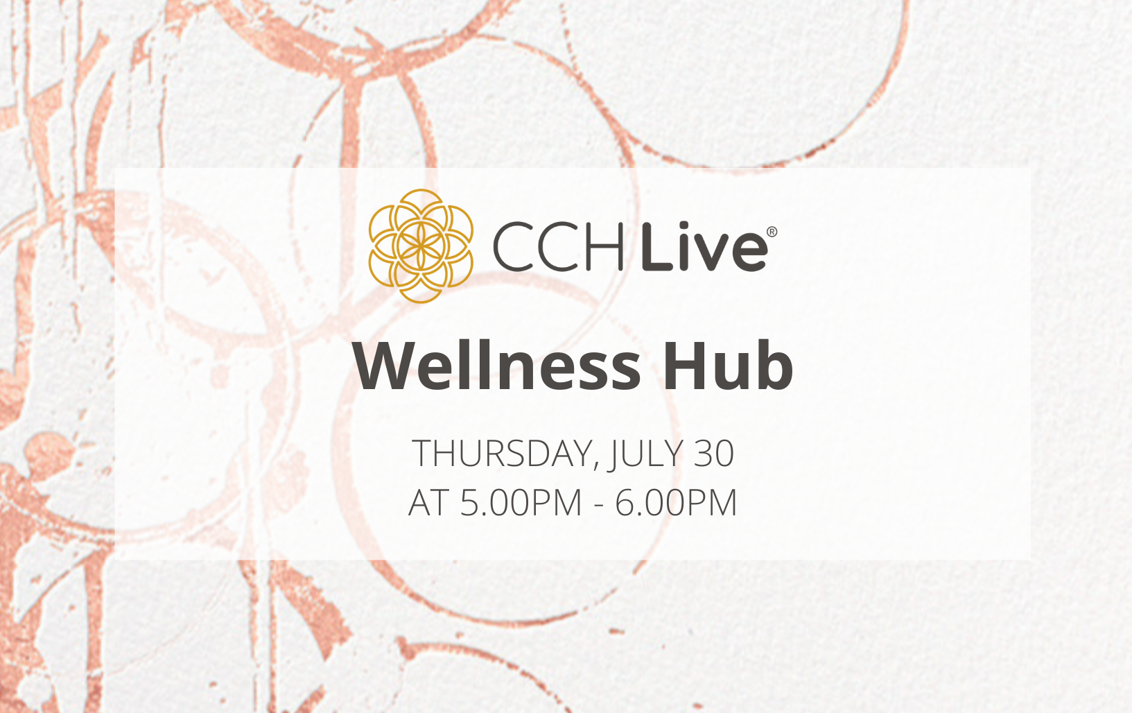 Wellness Hub Invite 30 July 20